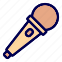 audio, media, microphone icon
