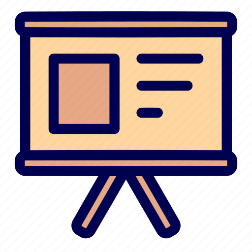 business, presentation, slide show icon