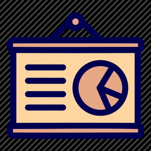 presentation, report icon