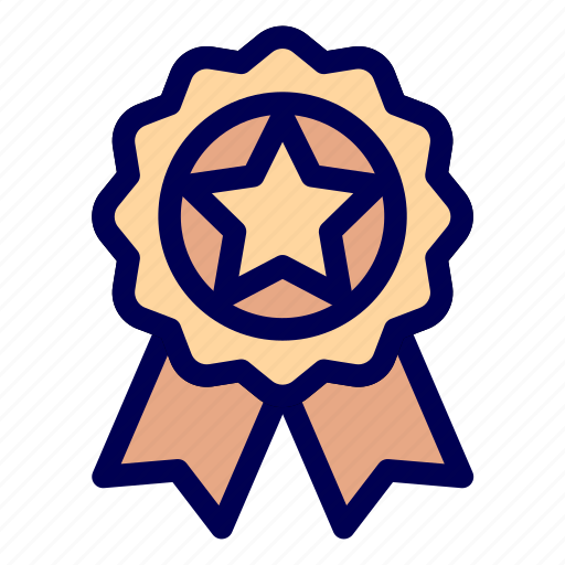 medals, prize, star icon