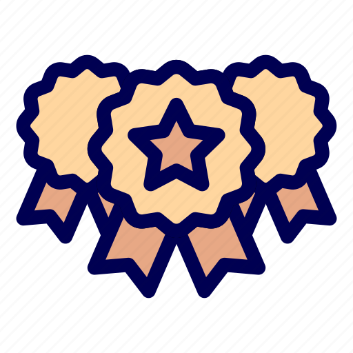 badge, medal, star icon
