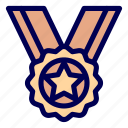 badge, medals, prize icon