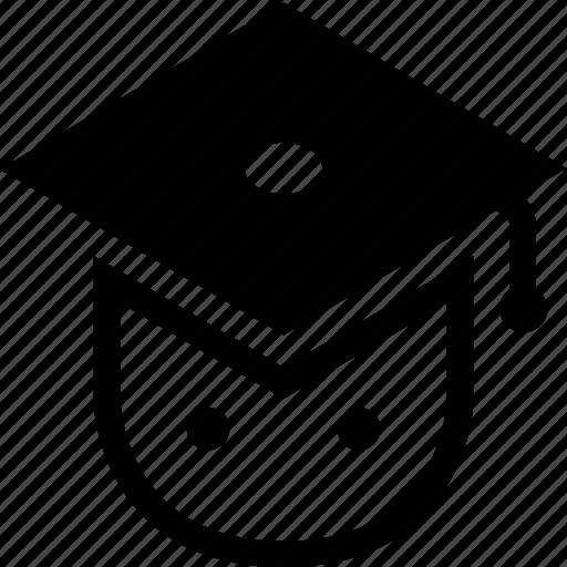 college, graduate, graduation, high, school, student icon