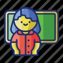 class, school, teacher icon