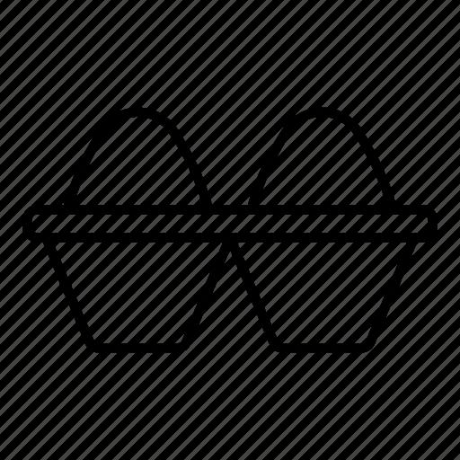 box, carton, egg, open icon