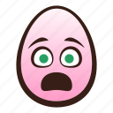 anguished, easter, egg, emoji, face, funny, head icon