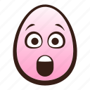 astonished, easter, egg, emoji, face, funny, head icon
