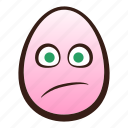 confused, easter, egg, emoji, face, funny, head icon