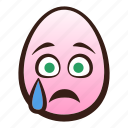 crying, easter, egg, emoji, face, funny, head icon