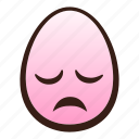 disappointed, easter, egg, emoji, face, funny, head icon