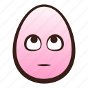 easter, egg, emoji, eyes, face, funny, rolling