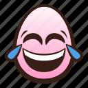 easter, egg, emoji, face, funny, joy, tears icon
