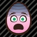 easter, egg, emoji, face, fearful, funny, head