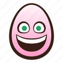 easter, egg, emoji, face, funny, grinning icon