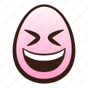 closed, easter, egg, emoji, eyes, face, grinning icon