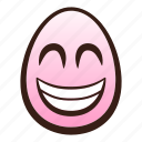 easter, egg, emoji, eyes, face, grinning, smiling icon