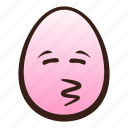 closed, easter, egg, emoji, eyes, face, kissing icon