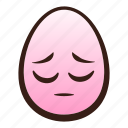 easter, egg, emoji, face, funny, pensive icon
