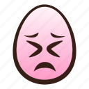 easter, egg, emoji, face, funny, persevering icon