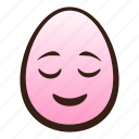 easter, egg, emoji, face, funny, head, relieved icon