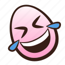 easter, egg, emoji, floor, funny, laughing, rolling icon