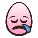 easter, egg, emoji, face, funny, head, sleepy icon