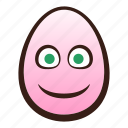 easter, egg, emoji, face, funny, slightly, smiling icon