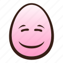 easter, egg, emoji, face, funny, smiling icon