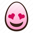 easter, egg, emoji, eyes, face, heart, smiling icon