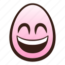 easter, egg, emoji, eyes, face, funny, smiling icon