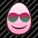 easter, egg, emoji, face, funny, smiling, sunglasses