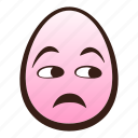 easter, egg, emoji, face, funny, head, unamused icon