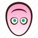 down, easter, egg, emoji, face, funny, upside icon
