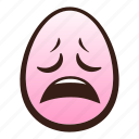 easter, egg, emoji, face, funny, head, weary icon