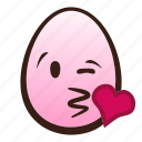blowing, easter, egg, emoji, face, kiss, winking icon