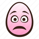 easter, egg, emoji, face, funny, head, worried icon