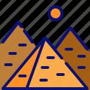 egypt, giza, landmark, monument, necropolis, pharaon, pyramid icon