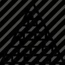analytics, chart, pyramid, report