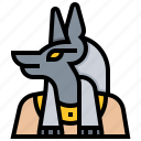 anubis, egypt, egyptian, god, mythology icon
