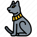 animal, cat, egypt, mammal icon