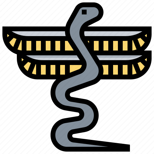 chanuphis egypt snake icon