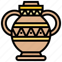 decoration, egyptian, jar, vase icon