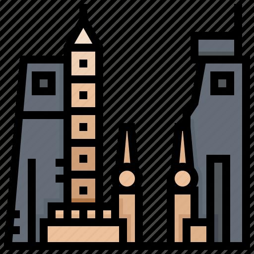 building, egypt, landmark, luxor, tower icon