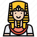 avatar, egypt, male, man, pharaoh icon