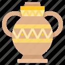 decoration, egyptian, jar, vase icon