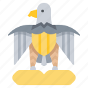 animal, bird, eagle, egypt, hawk icon