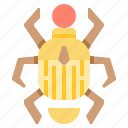 bug, egypt, egyptian, insect, scarab icon