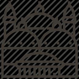 architecture, building, landmark, palace icon