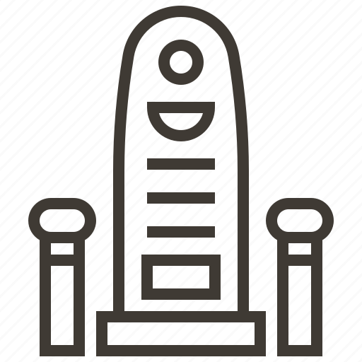 egypt, egyptian, royal, throne icon