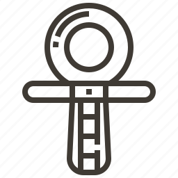ankh, egypt, egyptian, symbol icon